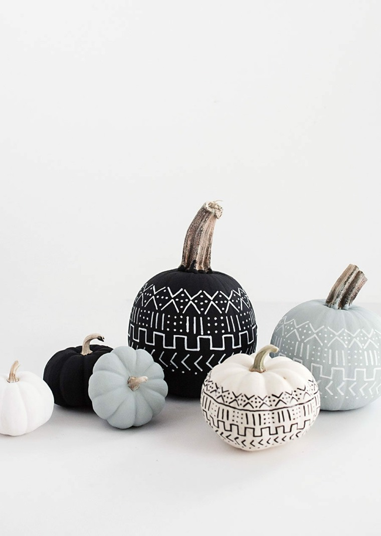 decoracion halloween moderna opciones calabazas ideas