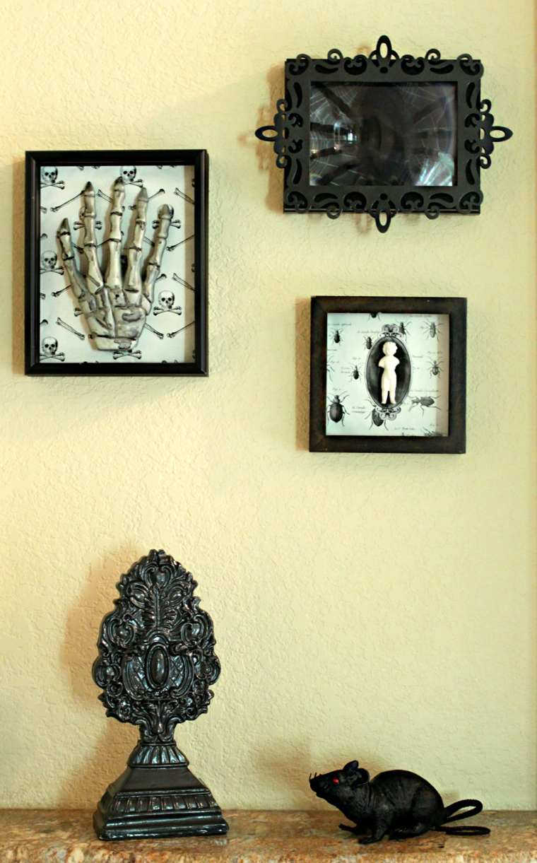 decoracion halloween moderna pared cuadros ideas