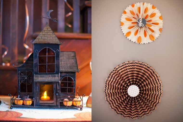 decoracion halloween moderna portavelas ideas