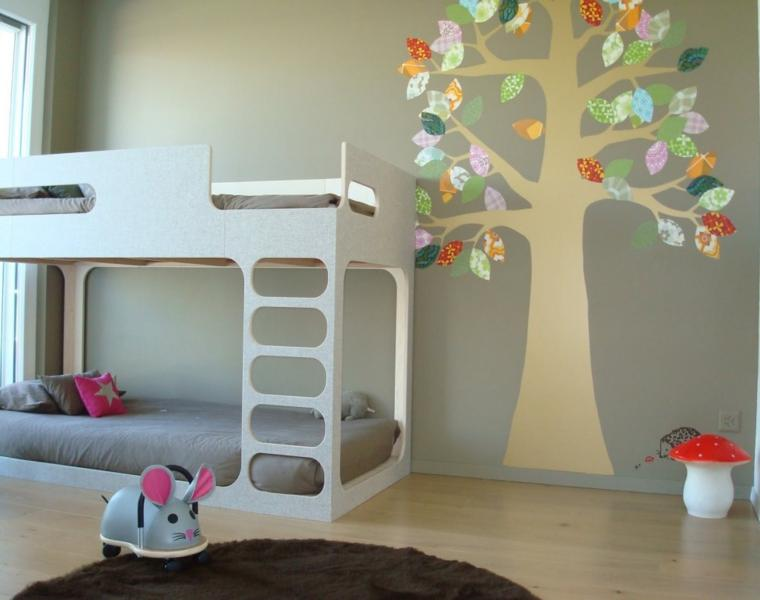 Dormitorios minimalistas para ni os y ni as dise os de for Disenos de cuartos de ninas