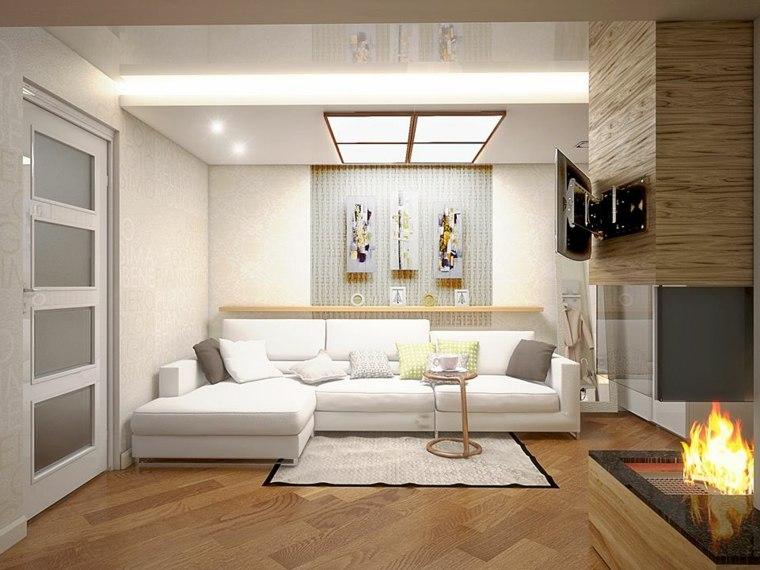 Decoraci n minimalista fotos de salones modernos for Salones minimalistas con chimenea
