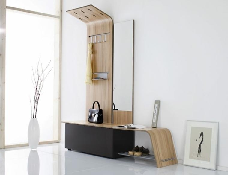 decoración minimalista original recibidor