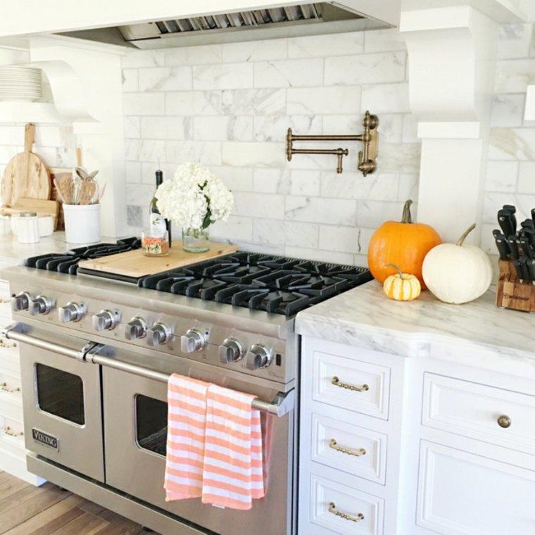 decoración para cocinas blancas