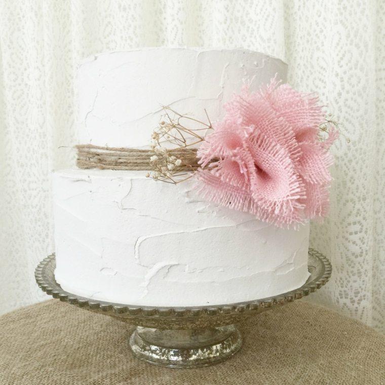 decoración shabby chic tarta