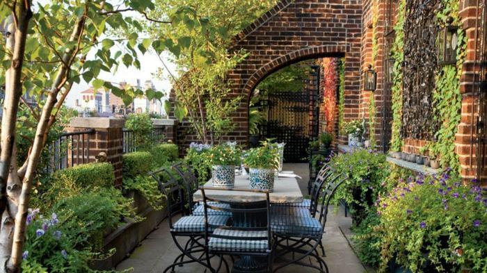 decoracion terrazas diseno clasico muebles acero ideas