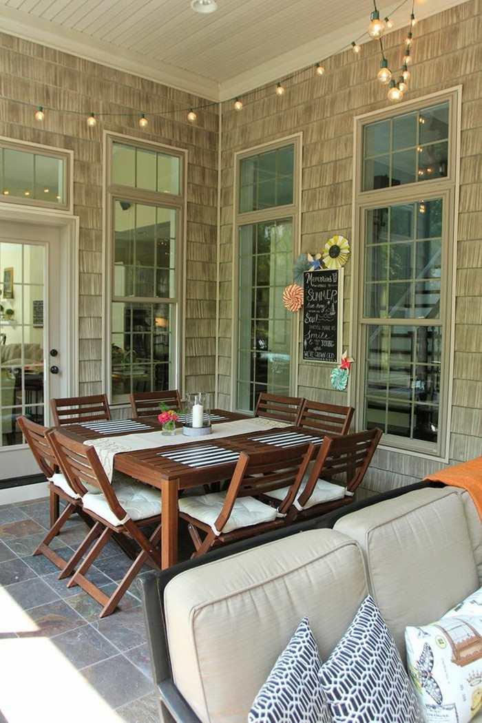 decoracion terrazas diseno comedor madera ideas