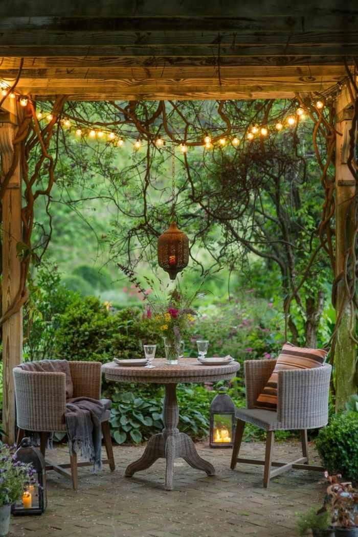 decoracion terrazas diseno romantico exterior ideas