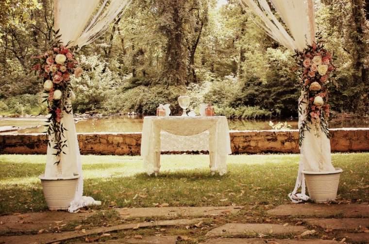 decoración vintage boda exterior