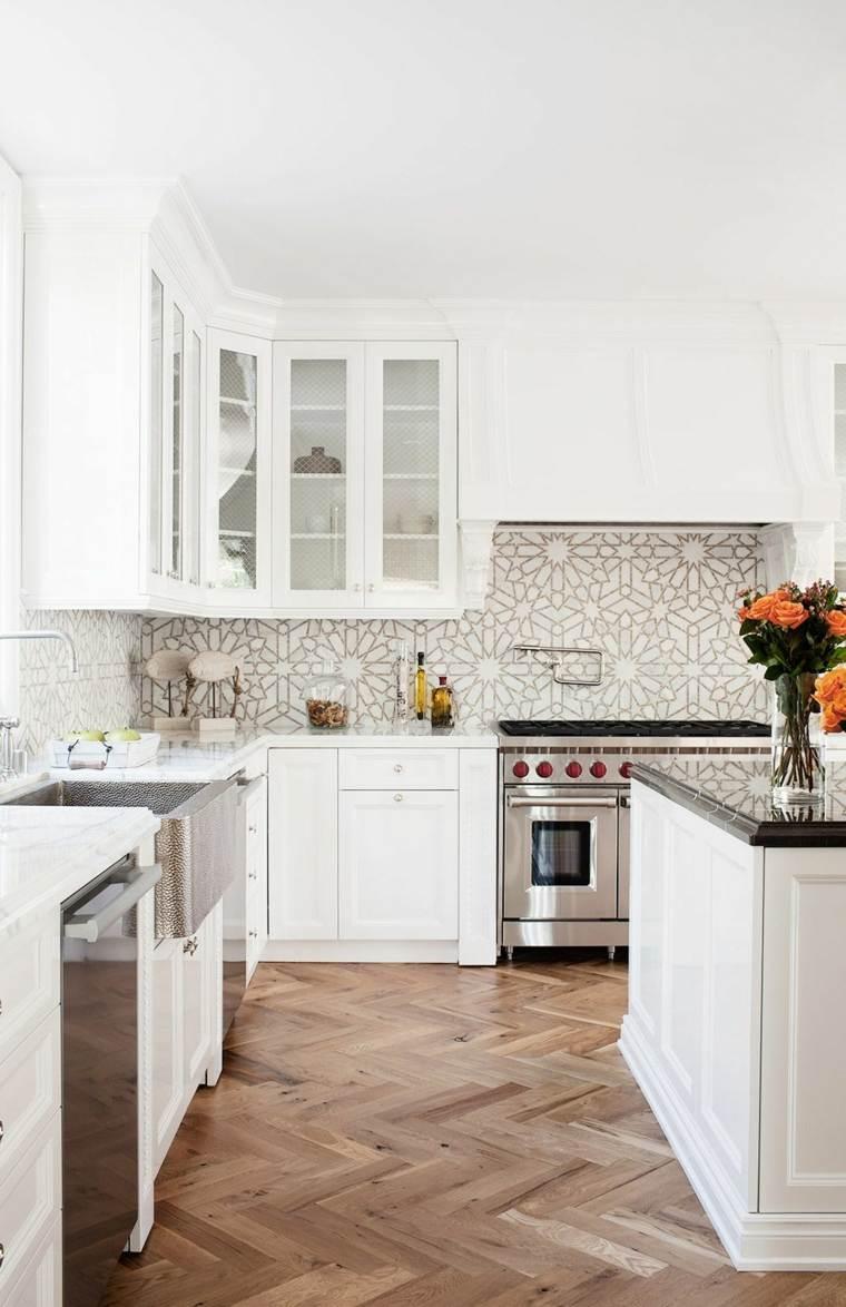 decoracion y diseno de cocinas clasica blanca ideas