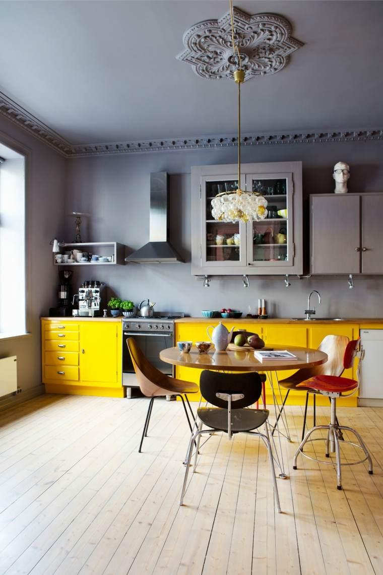 decoracion y diseno de cocinas gabinetes amarillos ideas
