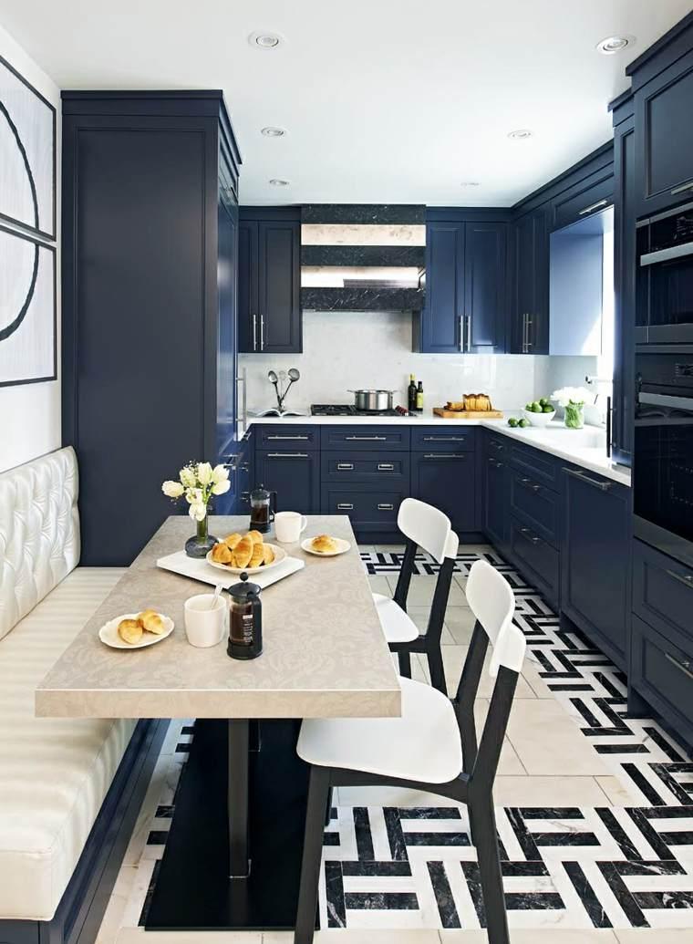 decoracion diseno de cocinas gabinetes azules ideas
