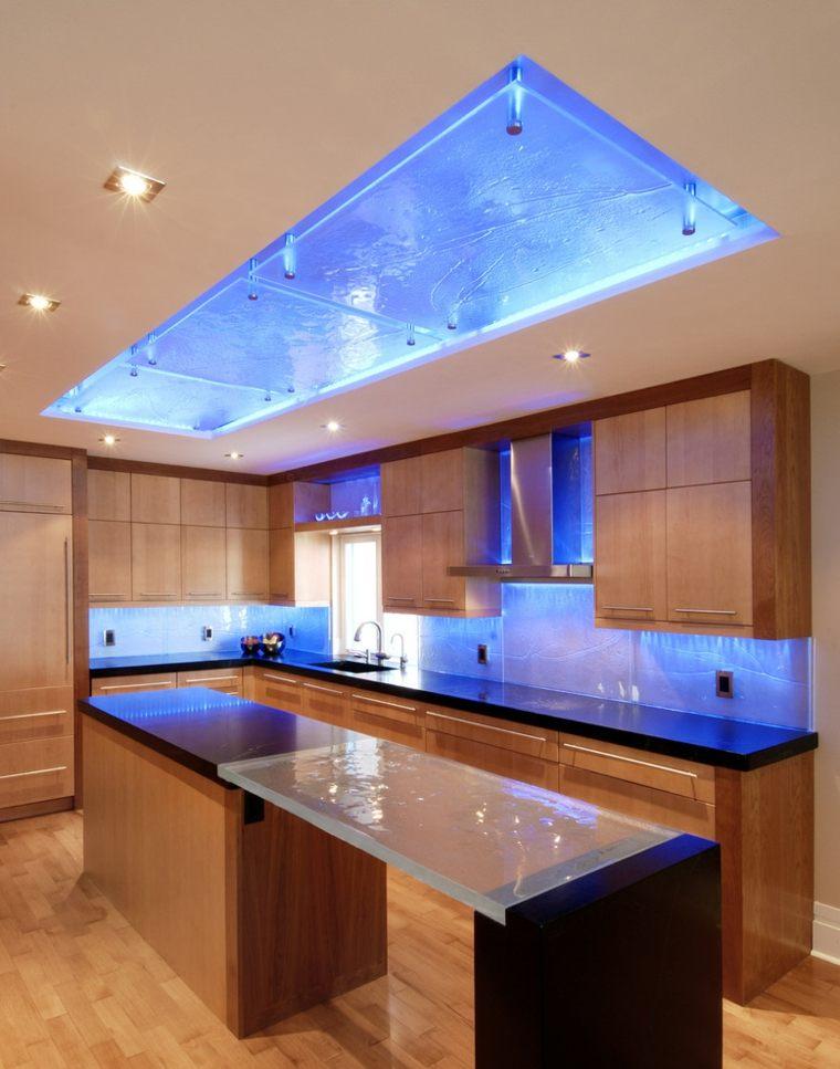 decoracion y diseno de cocinas iluminada ideas