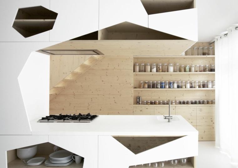 decoracion y diseno de cocinas moderno geometrico ideas