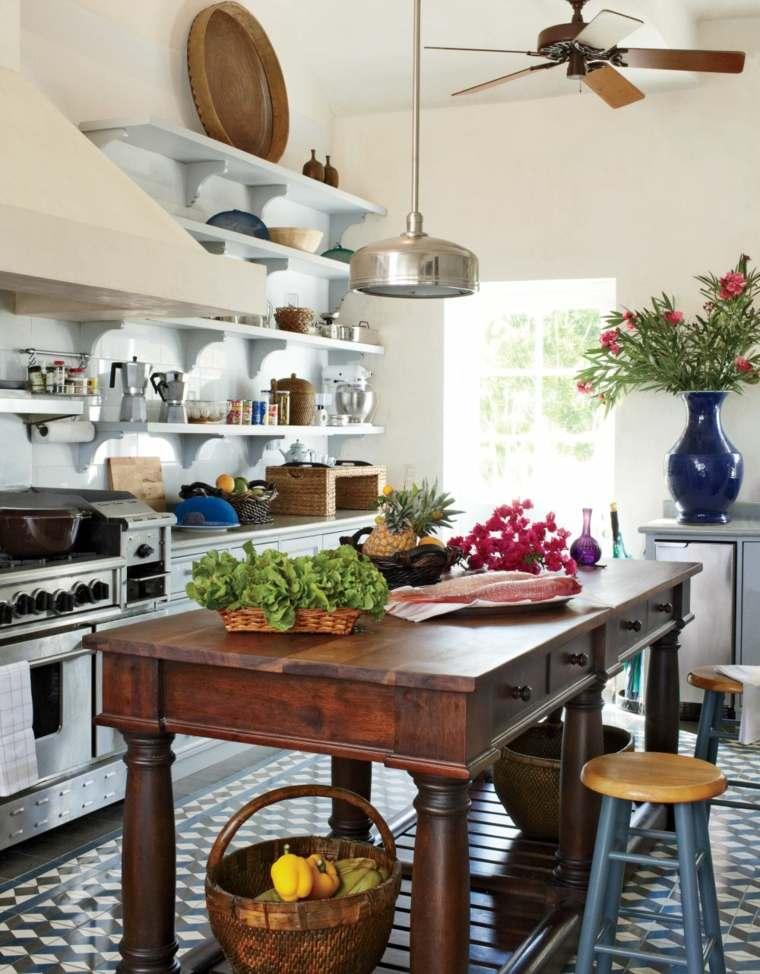 decoracion y diseno de cocinas mueble madera ideas