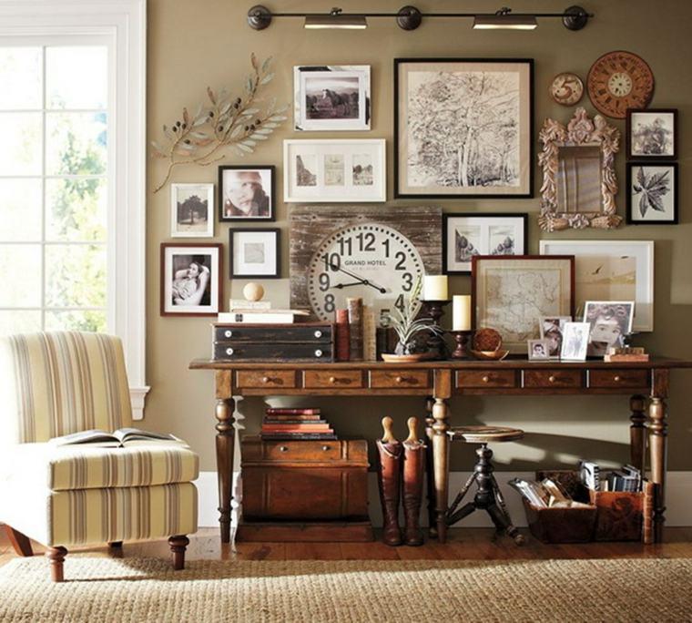 decorar con fotos estilo retro