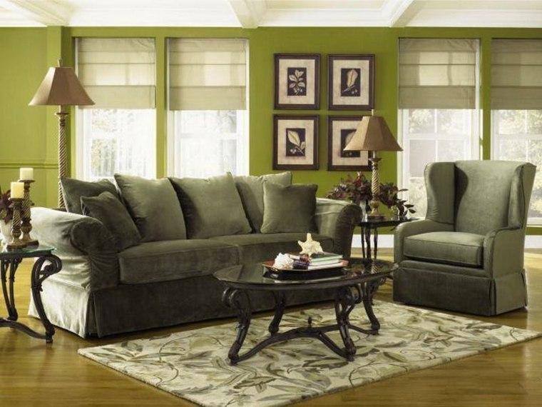 decorar con fotos paredes verdes