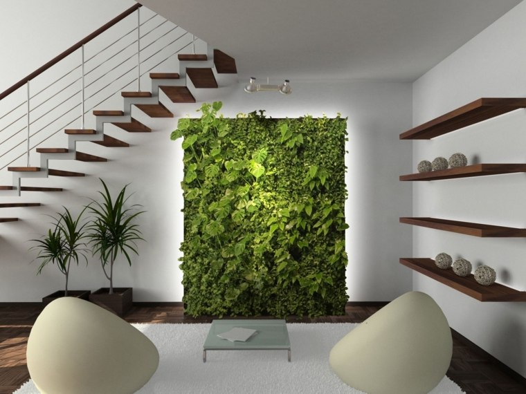 decorar con plantas de interior pared