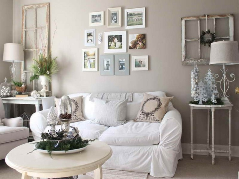 decorar paredes con fotos salón