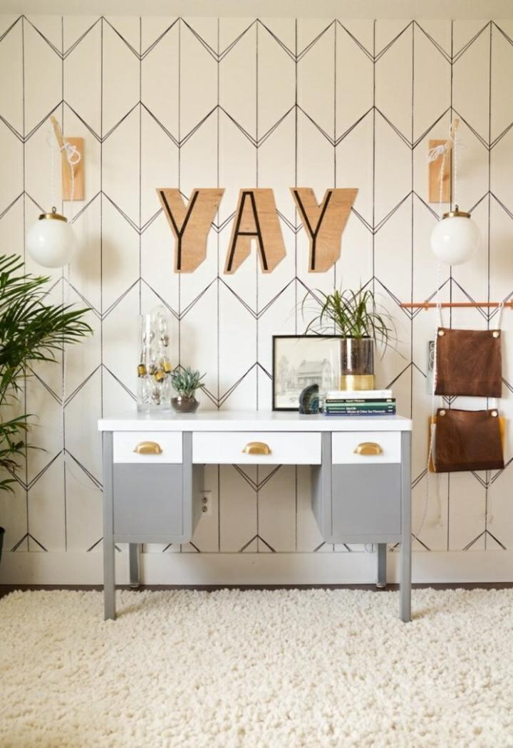 decorar paredes diseno efectos sillones letras
