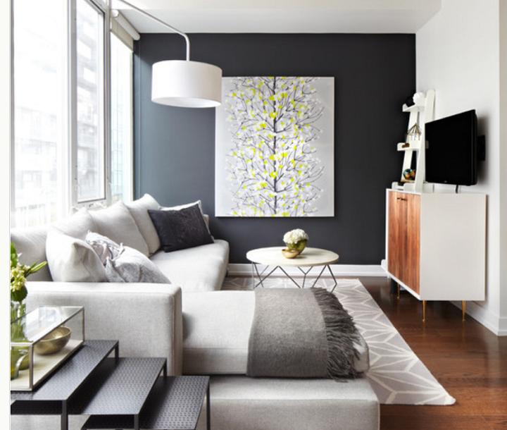 Decorar paredes dise o de acento y muebles junto a la chimenea - Disenos para pintar paredes ...