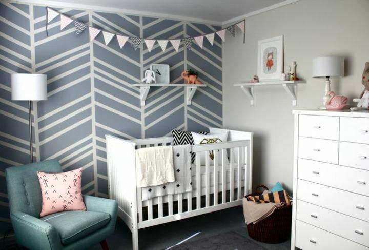 decorar paredes diseño modernas geometrica infantil