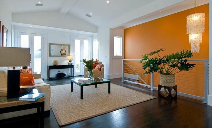 decorar paredes diseño naranja aspectos madera