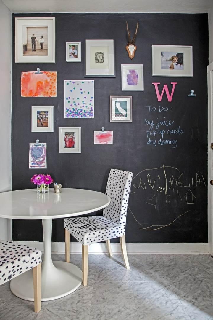 decorar paredes diseño pizarra mensajes funcional