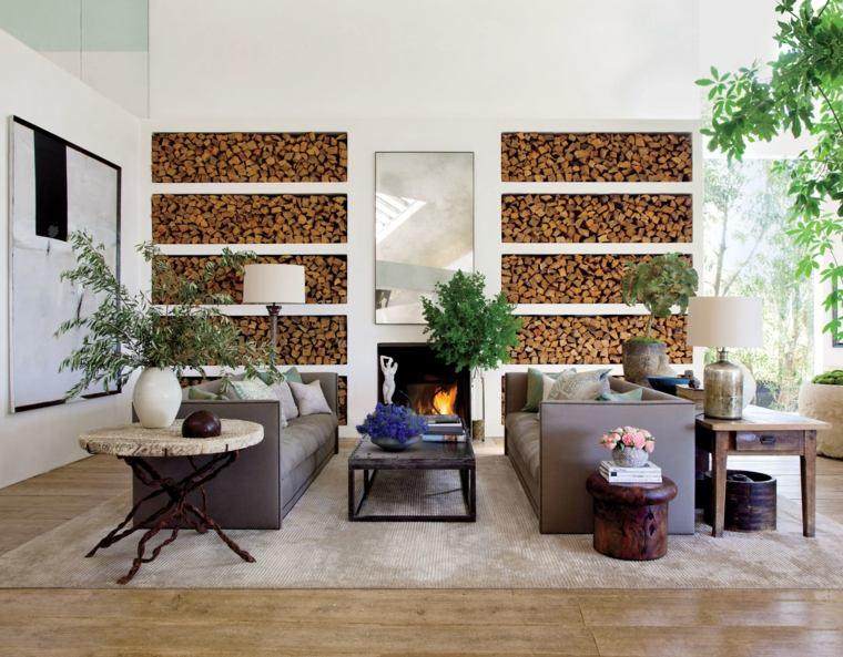 decorar paredes diseno interiores acentos chimenea ideas