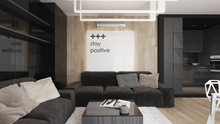 decorar paredes diseno interiores acentos color negro ideas