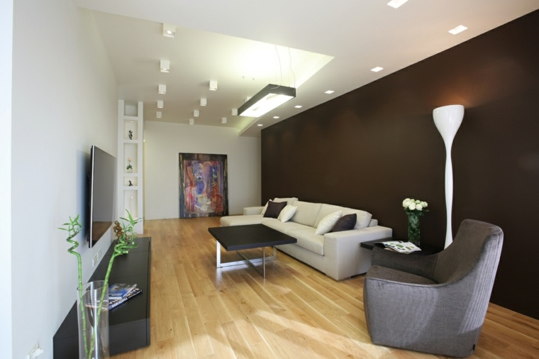 decorar paredes diseno interiores acentos color oscuro ideas