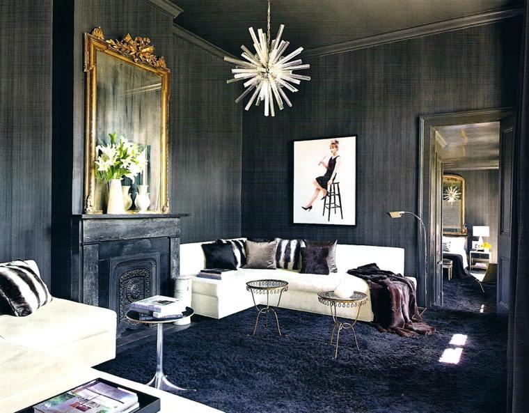 decorar paredes diseno interiores acentos espejo chimenea ideas
