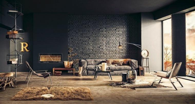 decorar paredes diseno interiores acentos estilo industrial ideas