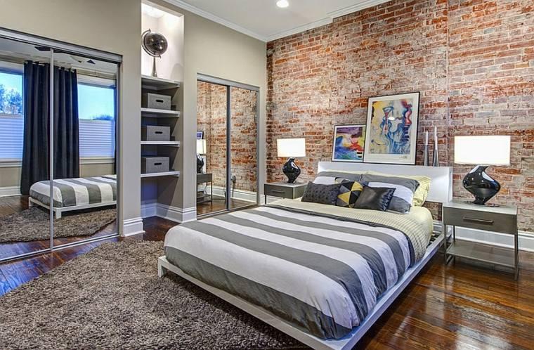 decorar paredes diseno interiores acentos ladrillo ideas