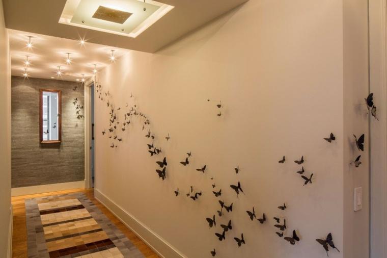 decorar paredes diseno interiores acentos mariposas ideas