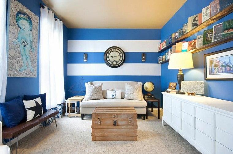 decorar paredes diseno interiores acentos rayas ideas