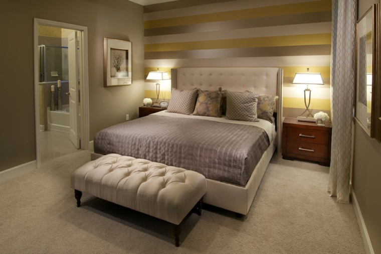decorar un dormitorio de matrimonio banco cama ideas