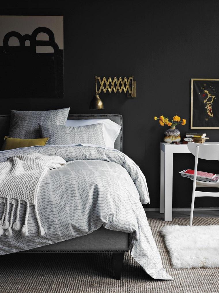 decorar un dormitorio de matrimonio colores oscuro ideas