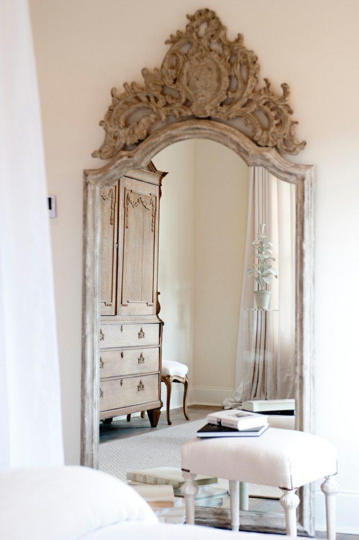 decorar un dormitorio de matrimonio espejo grande ideas