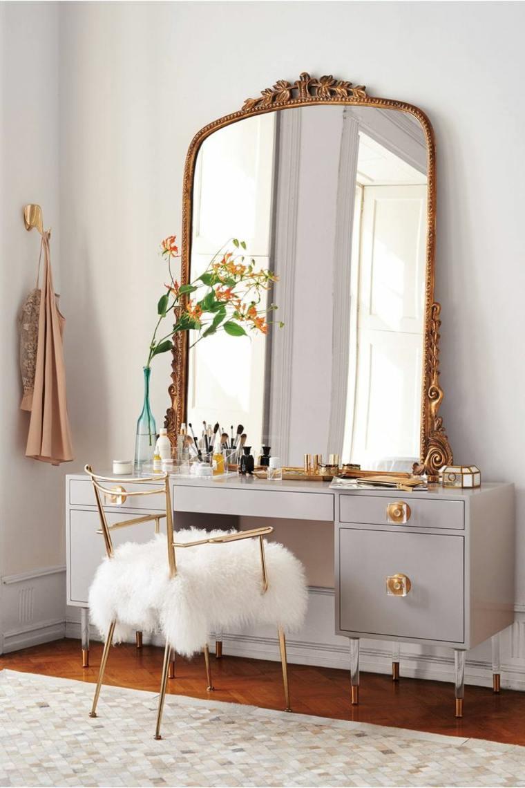 decorar un dormitorio de matrimonio mesa maquillaje ideas