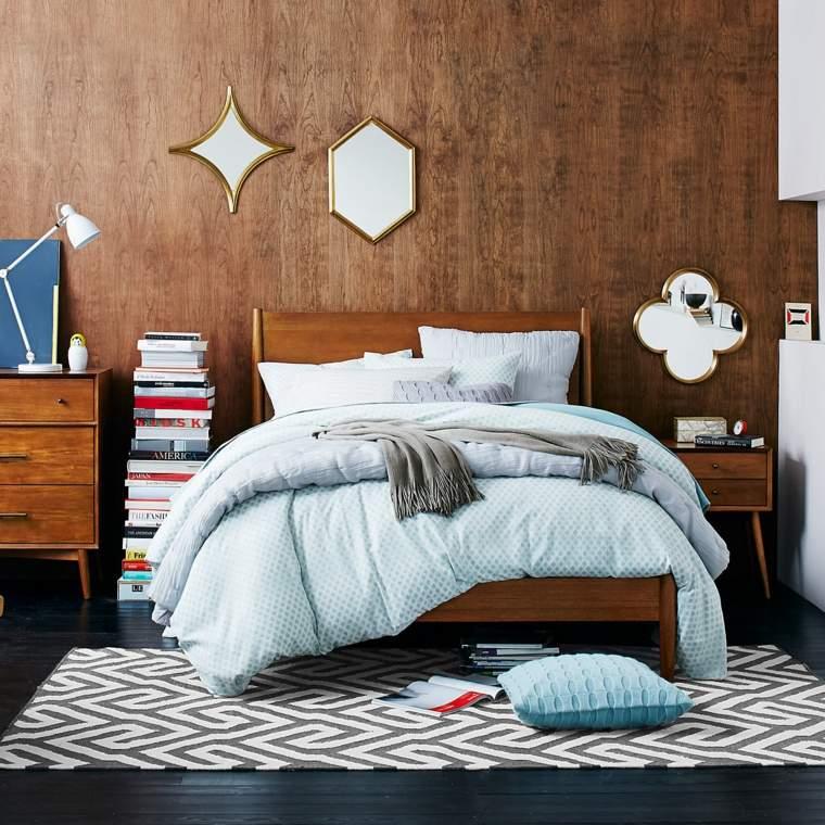 decorar un dormitorio de matrimonio pared madera ideas
