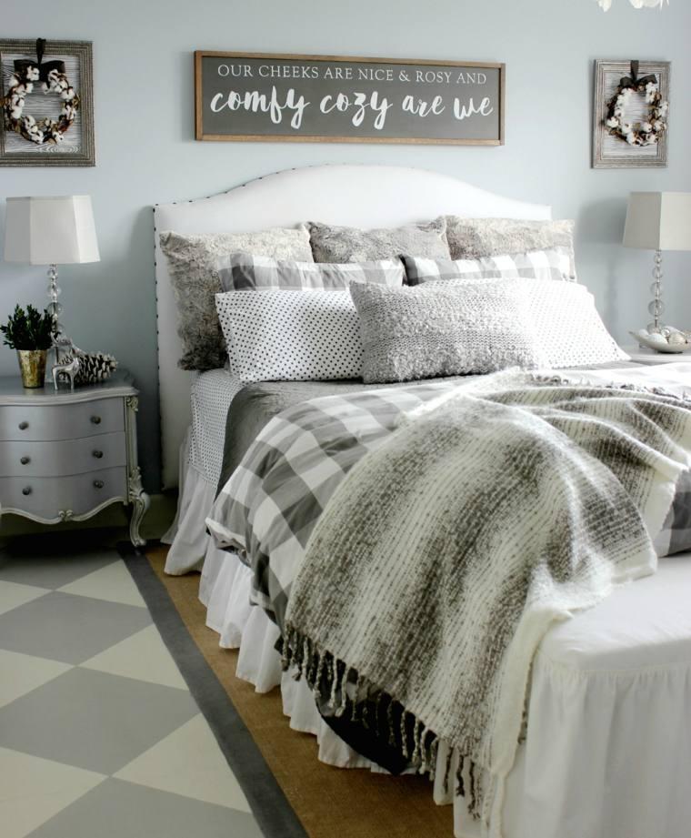 Decorar un dormitorio de matrimonio acogedor - Ropa de cama matrimonio ...