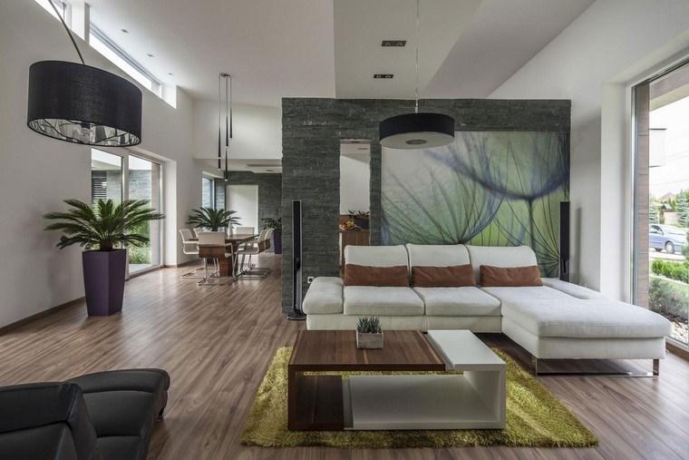 Interiores de casas minimalistas con piedras - Piedra paredes interior ...