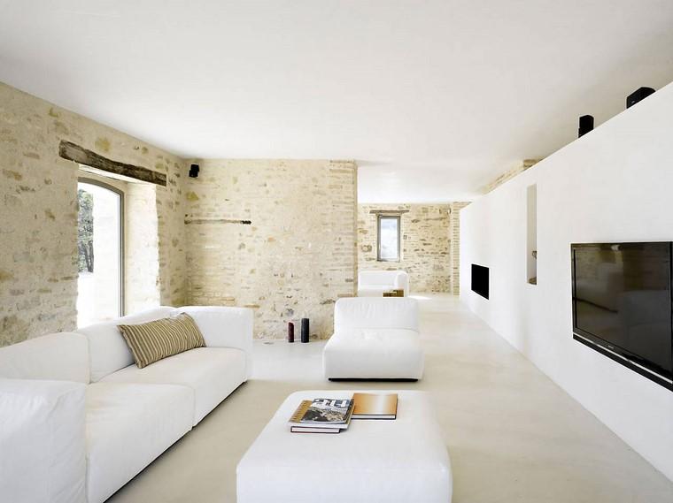 descoracion interiores minimalistas muebles color blanco ideas