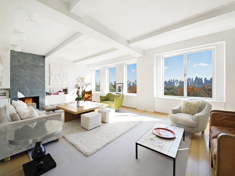 Decoraci n interiores minimalistas con paredes de piedra for Elementos de decoracion de interiores