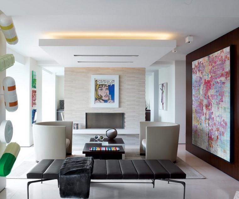 Decoraci n interiores minimalistas con paredes de piedra for Decoracion de departamentos modernos minimalistas