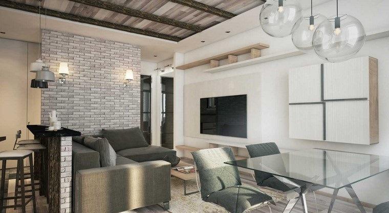 Decoraci n interiores minimalistas con paredes de piedra - Decoracion de paredes con piedra ...