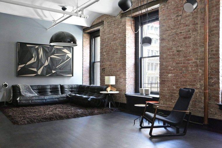 decoracion interiores minimalistas ladrilllo expuesto ideas