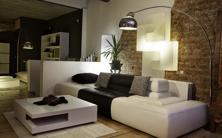 decoracion interiores minimalistas ladrillo sofa ideas