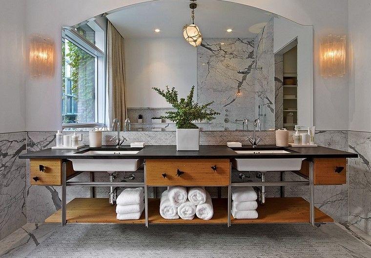 descoracion interiores minimalistas lujoso bano ideas