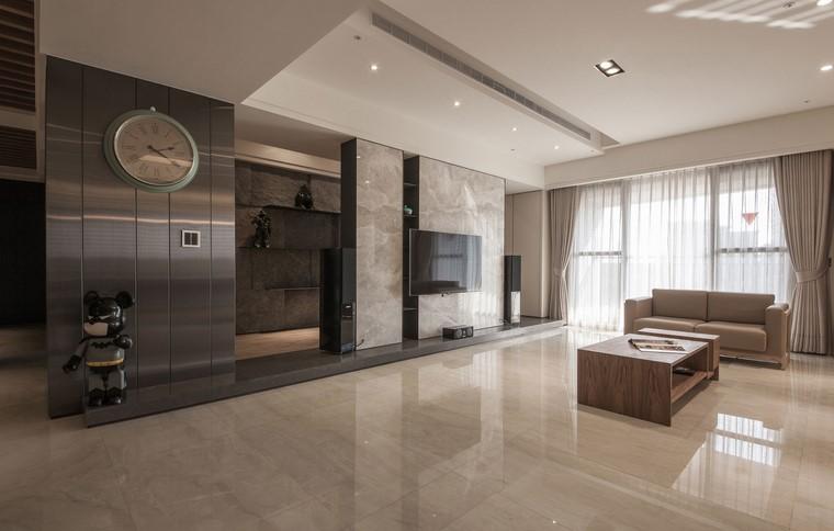 descoracion interiores minimalistas marmol pared ideas